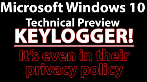 Windows 10 tracks users with a keylogger