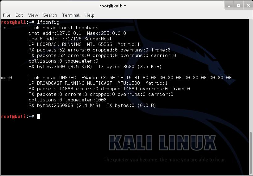 wifi crack kali linux vmware