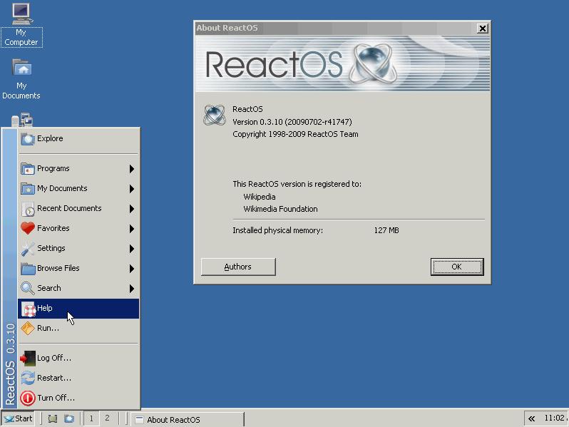 ReactOS - FREE alternatives to windows