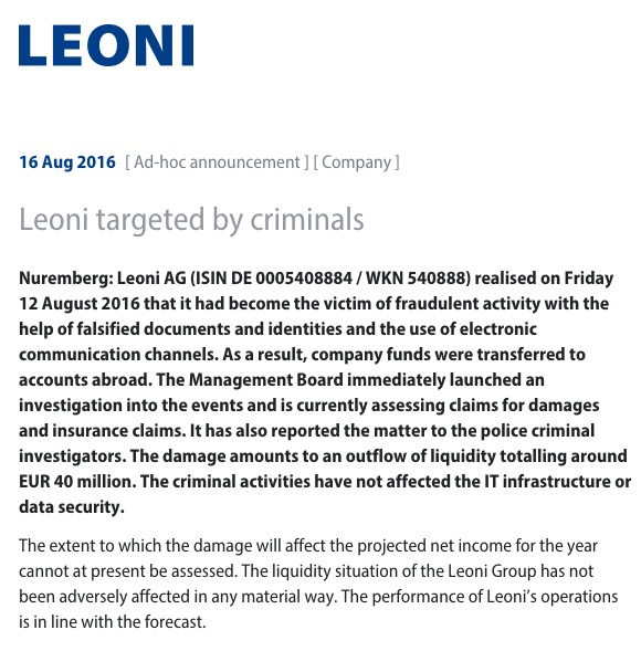 leoni-statement
