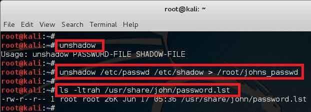 crack linux password with john