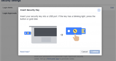 How To Enable USB Key Authentication On Facebook