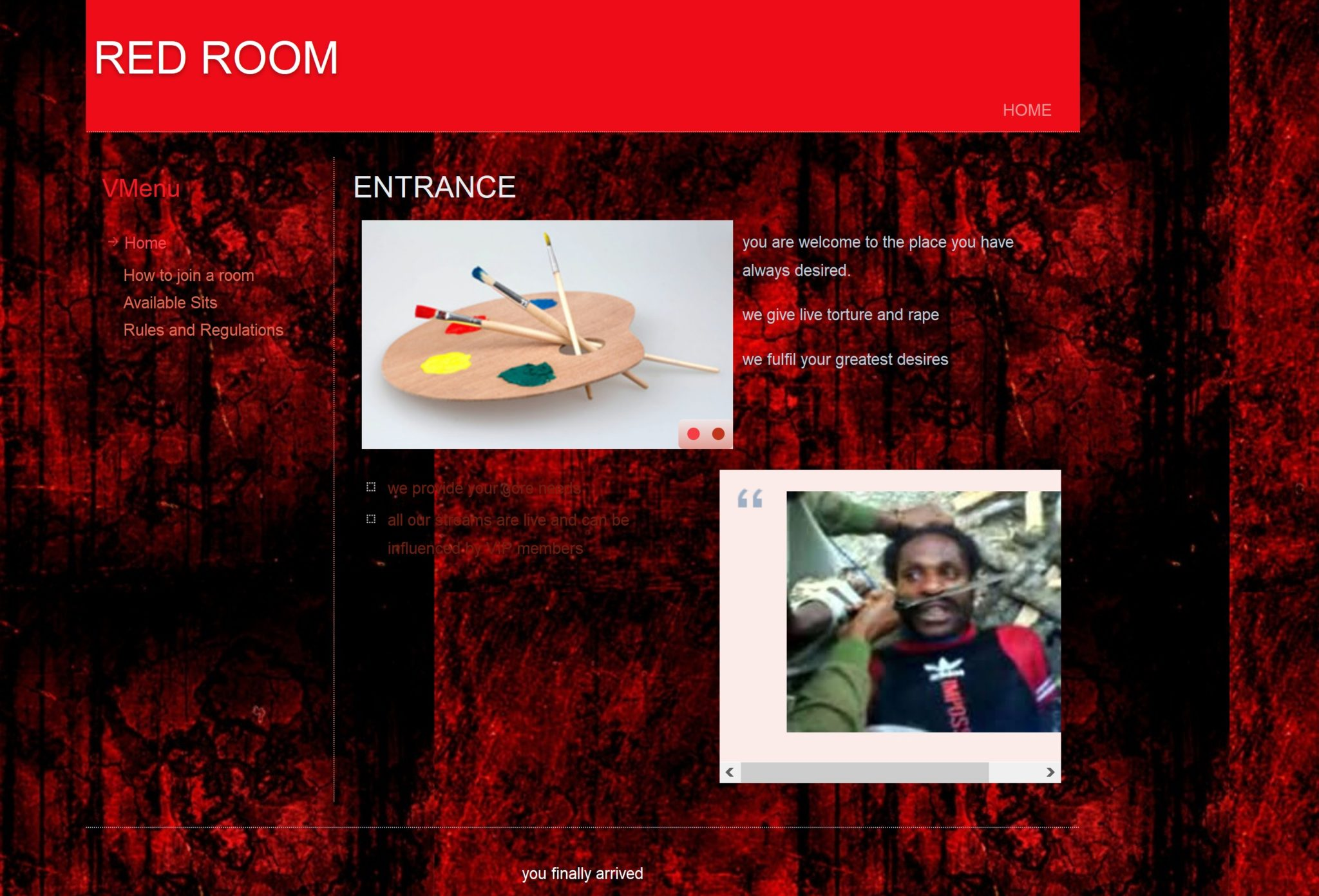alleged red room pops up on the dark web