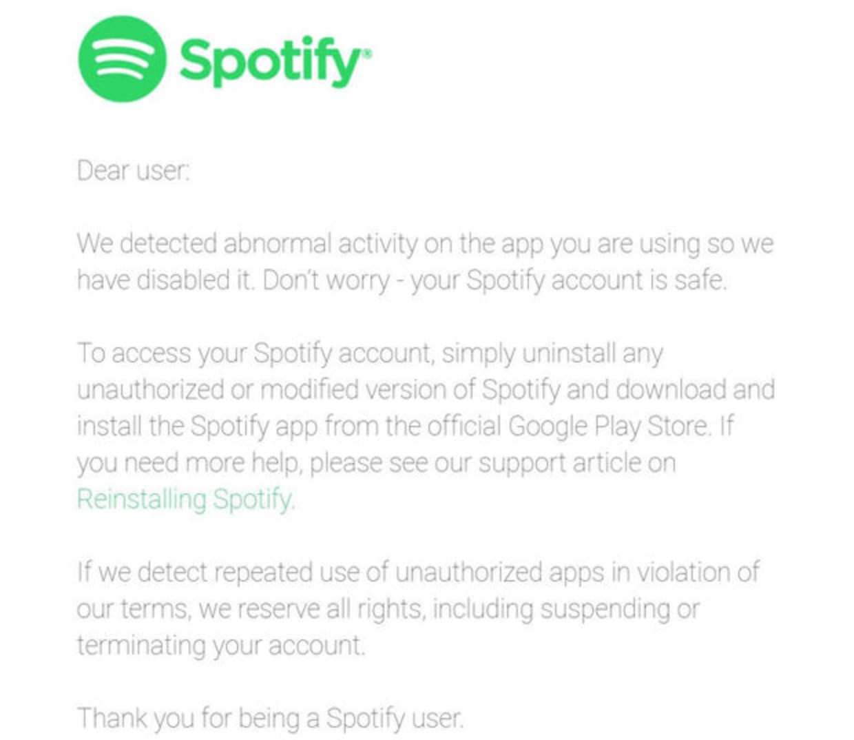 Spotify Starts Banning Users Who Hack Spotify For Free Accounts