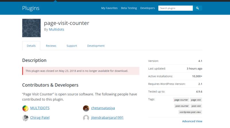Multidot WordPress Plugins Closed