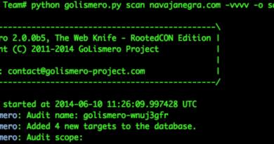 Golismero – Web Application Vulnerability Scanner
