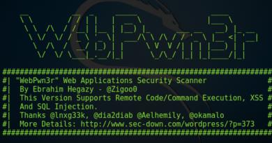 Webpwn3r – Web Application Vulnerability Scanner
