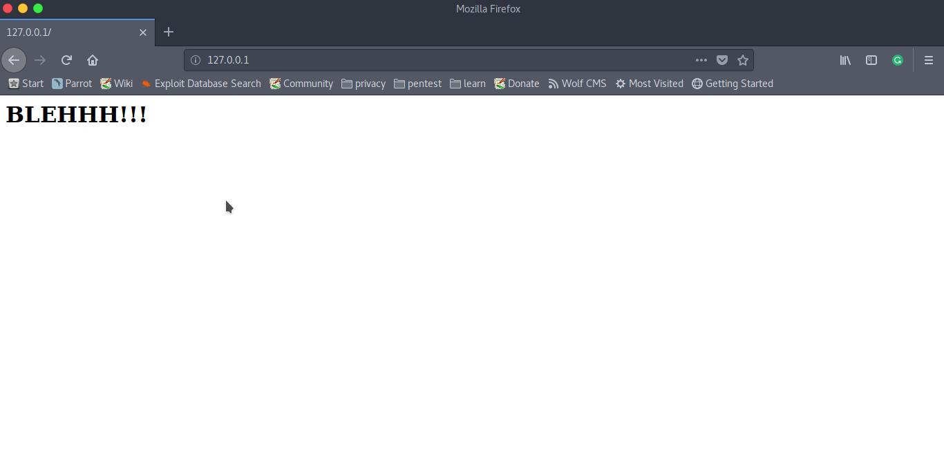5. default web page