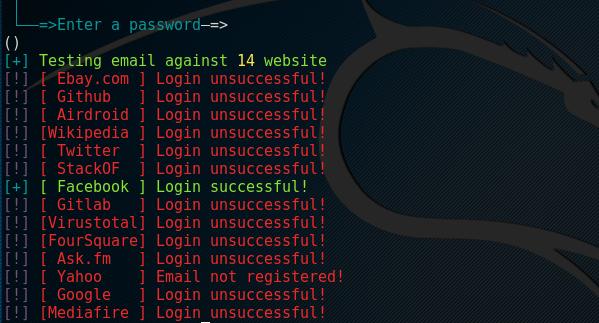 Cr3dOv3r password test agaist famous sites