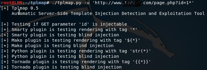 tplmap target scan