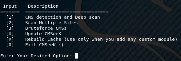 CMSeek scan options