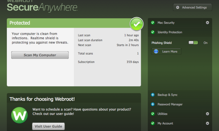 Webroot Secureanywhere vulnerability