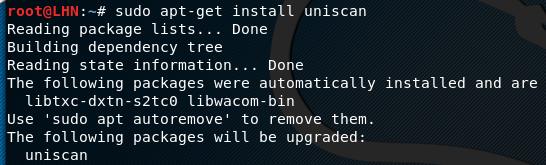 uniscan installation