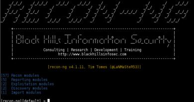 Recon-ng – Open Source Intelligence (OSINT) Reconnaissance Framework