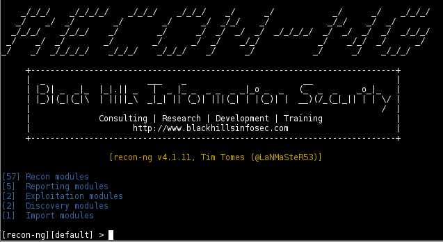 recon-ng hacking tool OSINT