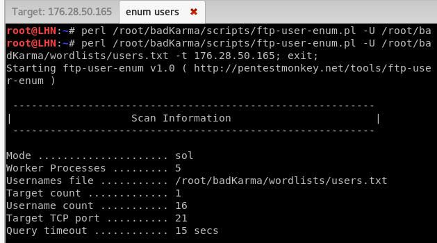 user enumeration