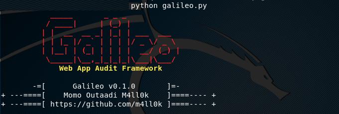 Galileo – Open Source Web Application Auditing Framework - Latest