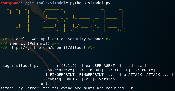 Sitadel - An Open Source Tool for Finding Web Application