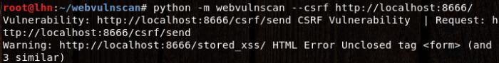 csrf scan resuts