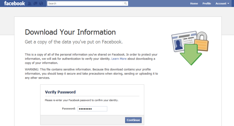 Facebook DYI password bypass