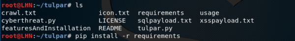 Tulpar requirements