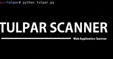 Tulpar – An Open Source Web Application Vulnerability Scanner