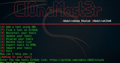 Cl0neMast3r – Install Your Hacking Tools With Ease