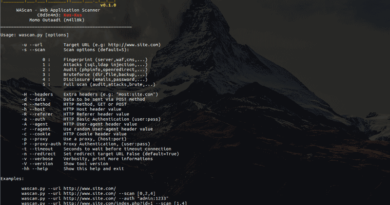 WAScan – An Open Source Web Application Scanner
