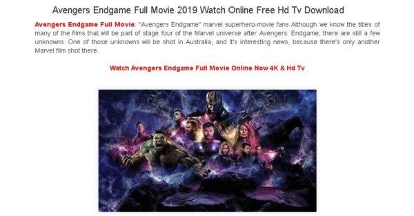 Avengers Endgame phishing