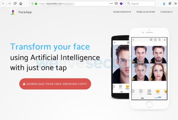free FaceApp Pro scam
