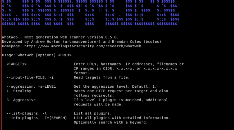 WhatWeb – A Very Handy Open Source Web Scanner - Latest Hacking News