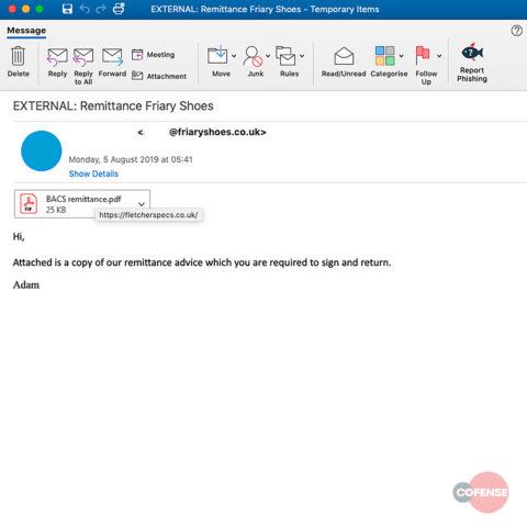 Adwind malware phishing email