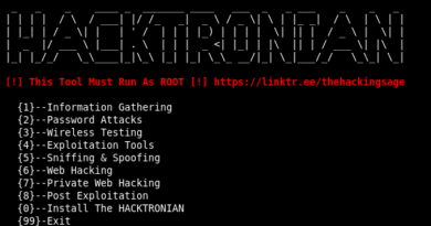 Hacktronian – An all in one hacking tool for Linux and Android