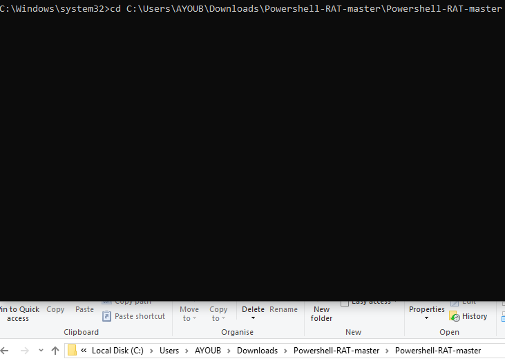 Powershell-RAT   A Backdoor Tool to Extract Data via Gmail
