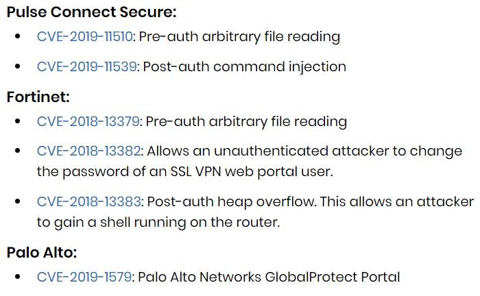 spy agency alerts VPN vulnerabilities