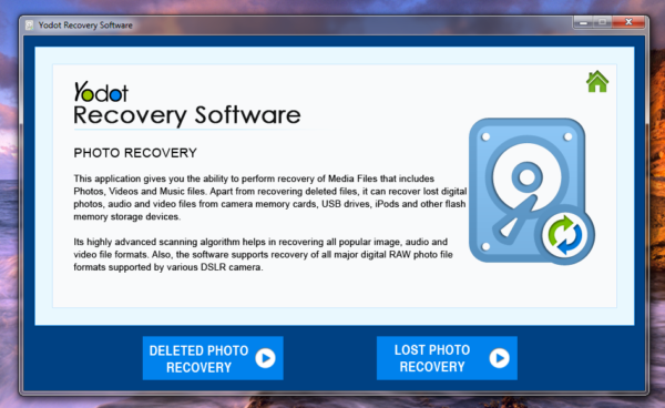 Yodot Photo Recovery Software preview