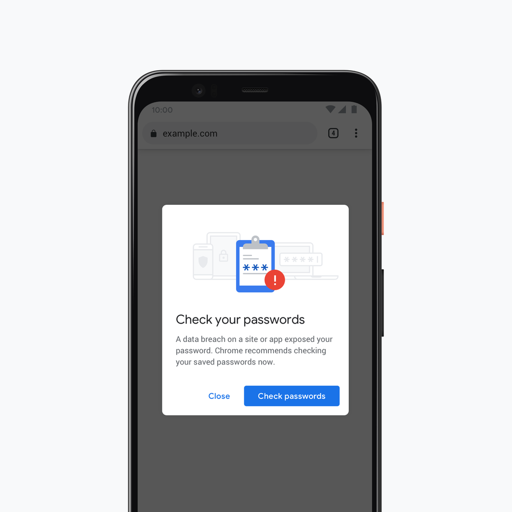 Google Chrome 79 password protection