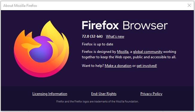 Mozilla Firefox 72