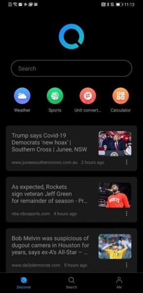 Huawei Search Dark Mode