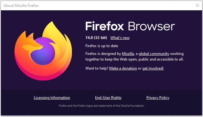 Mozilla Firefox 74