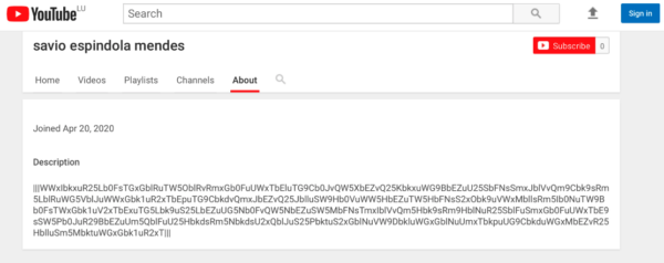 Astaroth malware YouTube description