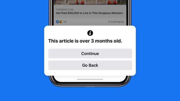 Facebook para alertar usuários ao compartilhar conteúdo antigo 5