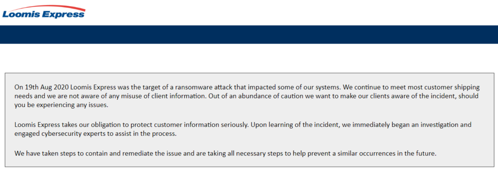 Canadian Firm Canpar Express Becomes Ransomware Attack Victim